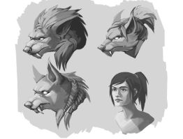 Werewolf Concepts by Whiksers