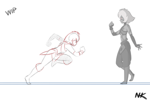 Jet Sprinting Animation Rough by TheGraffitiSoul