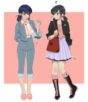 Mariko and Marinette by revolmxd