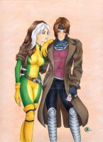 Rogue and Gambit by TalisX