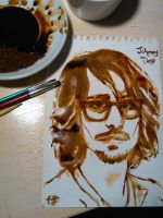Johnny Depp Coffee painting by elilee23