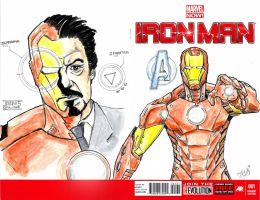 Iron Man1 Sketch Cover by aldoggartist2004