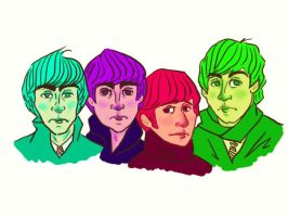 Colourful Beatles by PsychedelicHippie