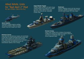 RA2 Mod- Allied Ships by Harry-the-Fox
