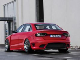 audi a4 red by backo-designs