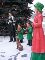 Snow carolers family 3 by OsorrisStock