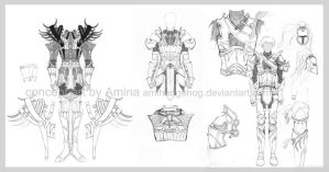 some epic armor by HeartySpades