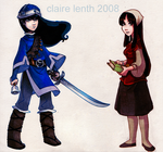 Sabriel and Lirael by prismageek