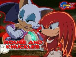Rouge y Knuckles by sonamy-knouge-lovers