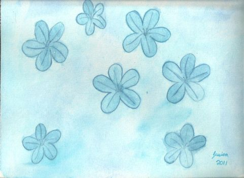 Blue Flowers by whimsicalworkings