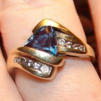 Alexandrite and Diamond Ring by FantasyStock
