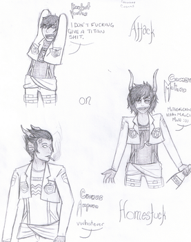 Attack on Homestuck by Evermorning