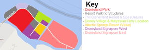 Disneyland Signapore West and East Basic Map, 2005 by Tcool123