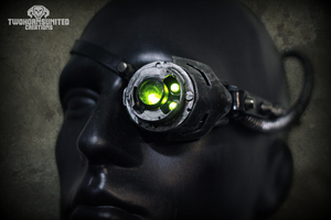 Digital Hedonist Cyberpunk LED monocle by TwoHornsUnited
