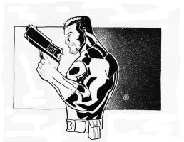 Punisher BW by Salvador-Raga