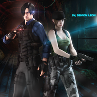 #Leon x Jill _V2 by DemonLeon3D