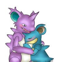 .:Nidoking and queen:. by ACLuigiYoshi