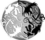 Wolf Ying Yang by Kastil