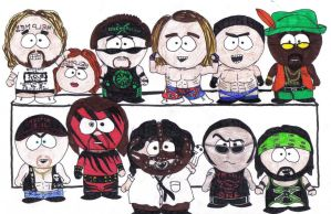 WWE Wrestlers South Park Style by adolfog01