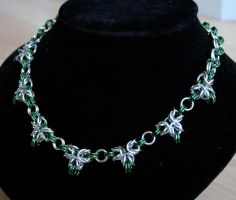Silver and Green Tripple Point Byzantine - For Sal by Ichi-Black