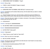 Singing with Cleverbot by slim58