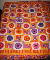 Crazy with the Daisies quilt by chromegoddess