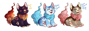 OTA CLOUD DOG PUPS [CLOSED] by Tiny-Roars