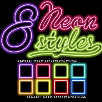 8 Neon Styles For Photoshop by AbouthRandyOrton