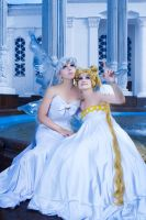 Mother and daughter by Sapphire-Melles