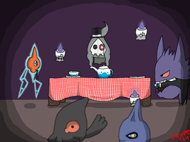 Ghostly Tea-Party by Eevee164