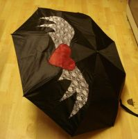 Heart with Wings Umbrella by LotD