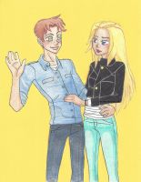 Wally and Artemis -YoungJustice by lndzbrdn