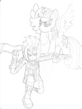 Defenders Of Friendship (Sketch) by PiplupSTARSCommander