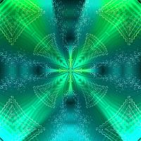 Psychedelic Green Water by Anaisabel22