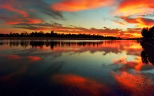 Sunset on the lake Ada Ciganlija, part I by jup3nep