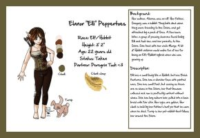 Elanor 'Elli' Peppertoes - Reference Sheet by fluffyscarf