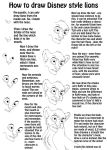 How to draw Disney style lions by tardis101