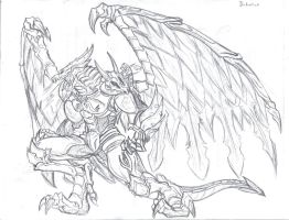 Bahamut the dragon king by callme-Nobodi
