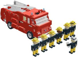London Fire Brigade Lego by YanamationPictures
