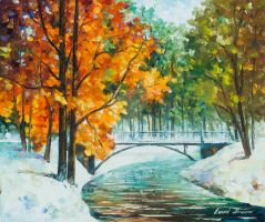 Autumn's End by Leonid Afremov by Leonidafremov