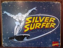 Silver Surfer Tin sign by Pabloramosart