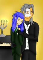 POTO - Xemnas and Saix by Phoneix-Faerie