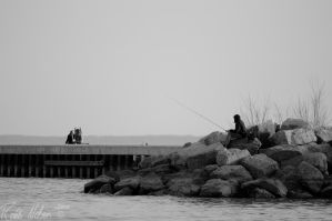 Lone Fisherman 2 by robb-nelson