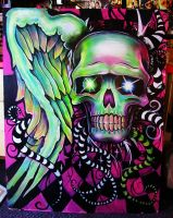 Colorful Skull by GracyG89