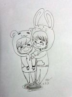bear and rabbit by anph93