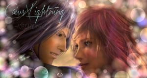 Only Breaths Away ~ Caius-x-Lightning by AureateWings