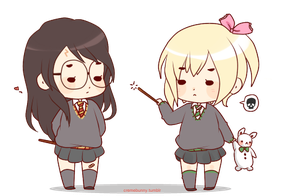 Chibi Genderbend!Drarry by Cremebunny