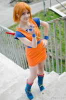 Nami cosplay, Dragon Ball Z x One Piece by Mellorineeee