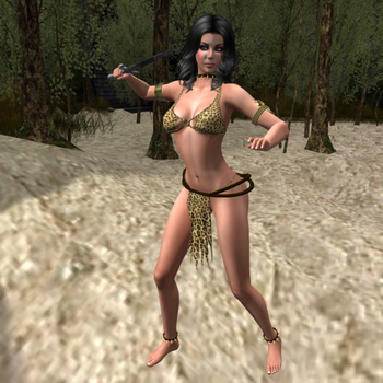 Jenissa the Jungle Girl 012 by ValMcJames
