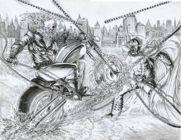 spawn vs ghostrider by ashkel